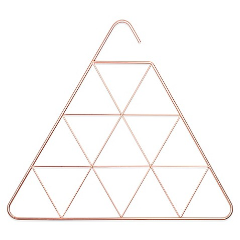 Umbra pendant scarf and accessory holder in copper www for Disegni di casa piano aperto