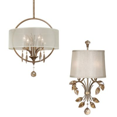 Uttermost Alenya 2-Light Wall Sconce with Silken Fabric Shade