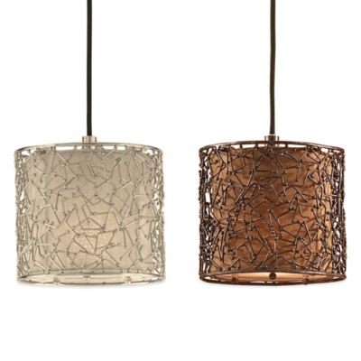 Uttermost Brandon Ceiling-Mount Mini Drum Pendant in Nickel