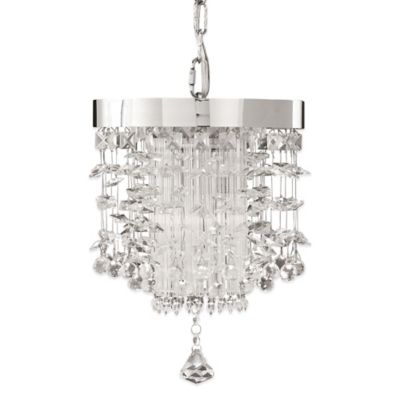 Uttermost Fascination Ceiling-Mount Crystal Mini Pendant in Chrome