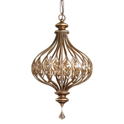 Uttermost Sabina 3-Light Ceiling-Mount Pendant in Gold