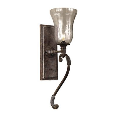 Uttermost Galeana Wall-Mount Glass Wall Sconce in Bronze