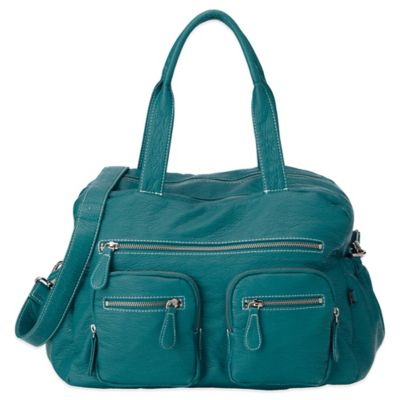 OiOi® Faux Buffalo Carry-All Diaper Bag in Turquoise