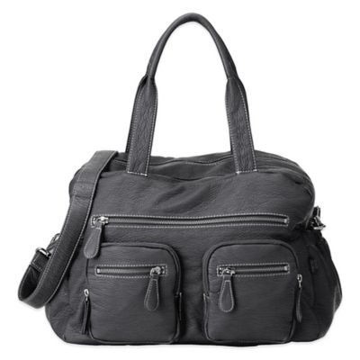 OiOi® Faux Buffalo Carry-All Diaper Bag in Charcoal