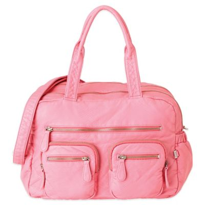 OiOi® Faux Lizard Carry-All Diaper Bag in in Pink Lemonade