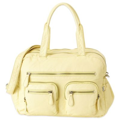 OiOi® Faux Lizard Carry-All Diaper Bag in French Vanilla