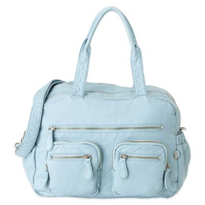 OiOi® Faux Lizard Carry-All Diaper Bag in Powder Blue