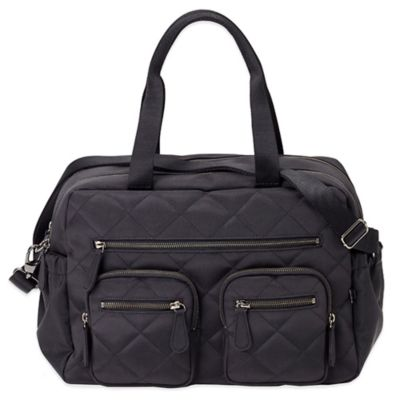 OiOi® Quilted Diamond Carry-All Diaper Bag in Black