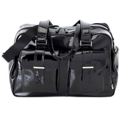 Black Patent Diaper Bags