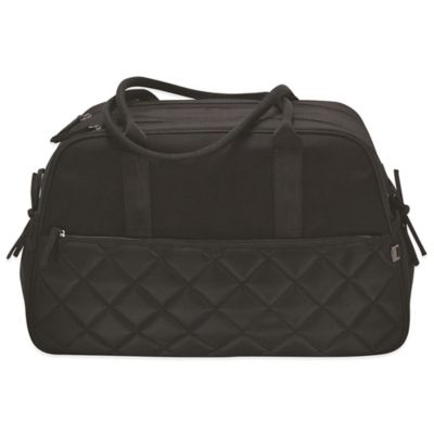 Quilted Carry-All Diaper Bag in Black