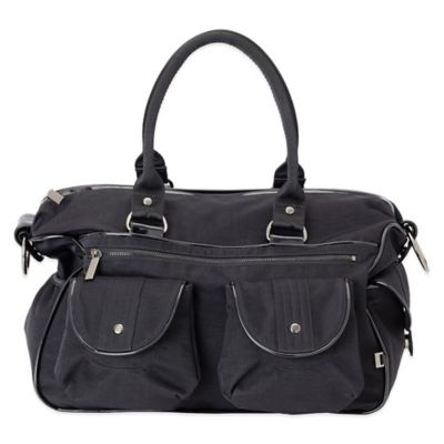 OiOi® Wash Nylon and Patent Trim Travel Carry-All Diaper Bag