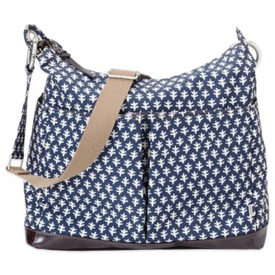 OiOi® Mini Geo 2-Pocket Hobo Diaper Bag in Monaco Blue