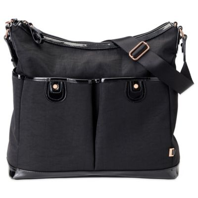 OiOi® 2 Pocket Hobo Diaper Bag in Black
