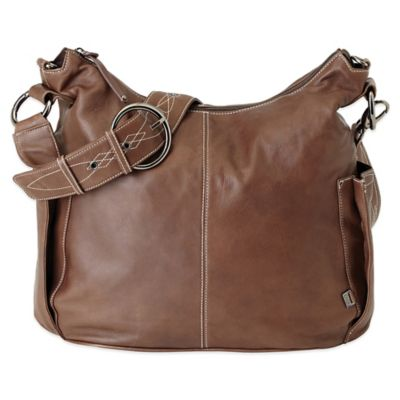 OiOi® Leather Hobo Diaper Bag in Chocolate
