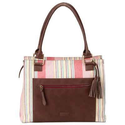 OiOi® Nomadic Stripe Tote Diaper Bag in Multicolor