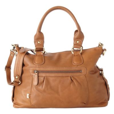 OiOi® Leather Slouch Tote in Tan