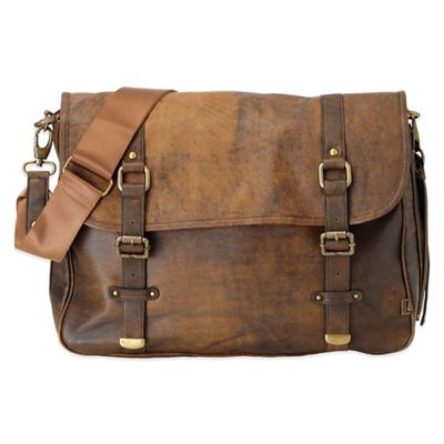 OiOi® Jungle Leather Satchel in Brown