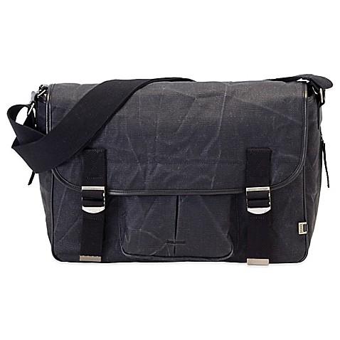 oioi men 39 s crushed canvas satchel diaper bag in black. Black Bedroom Furniture Sets. Home Design Ideas