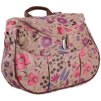 Minene Layla Floral Diaper Bag in Cream