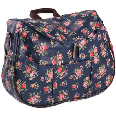 Minene Layla Floral Diaper Bag in Blue