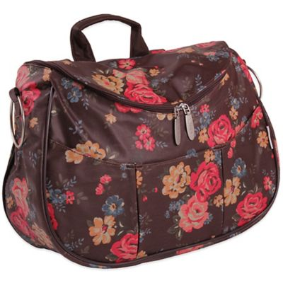 Minene Layla Floral Diaper Bag in Brown