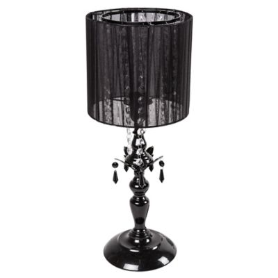 Sleeping Partners Tadpoles 1-Bulb Shaded Chandelier Table Lamp in Black Onyx