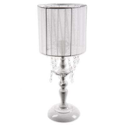 Sleeping Partners Tadpoles Shaded Chandelier Table Lamp in White