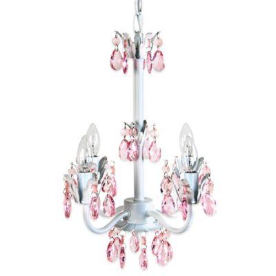 Tadpoles 4-Bulb Flower Chandelier in Pink Sapphire