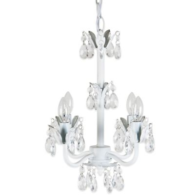 Tadpoles 4-Bulb Flower Chandelier in White Diamond