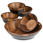 Kona Wood 5-Piece Salad Set
