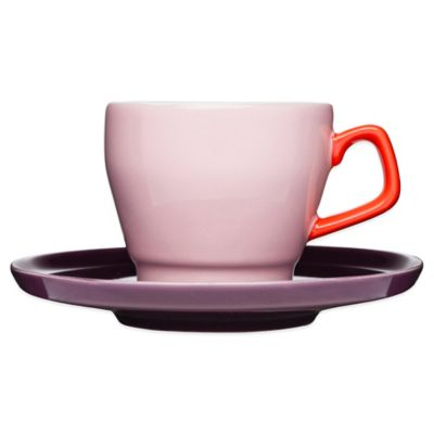 Sagaform® POP Cup and Saucer in Pink/Red/Plum