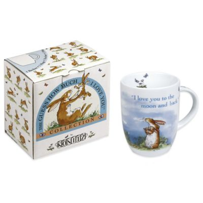 "Waechtersbach Guess How Much I Love You ""I Love You to the Moon and Back"" Mugs (Set of 4)"