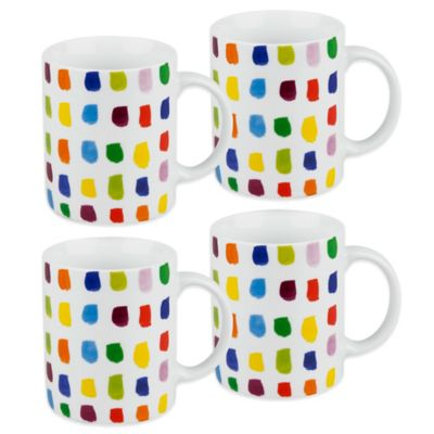 Waechtersbach Splash of Color Mugs (Set of 4)