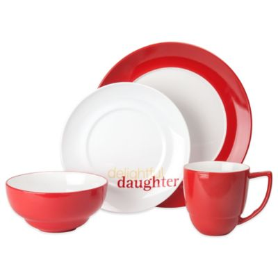 "Waechtersbach Family Uno ""Delightful Daughter"" 4-Piece Place Setting"