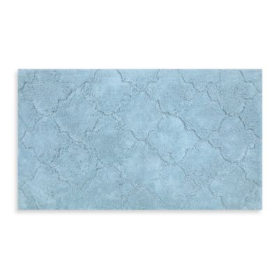 Mohawk Home Avery Collection 20-Inch x 34-Inch Fretwork Bath Rug in Blue