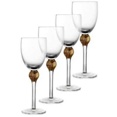Fitz and Floyd® Gold Medley Wine Glasses (Set of 4)