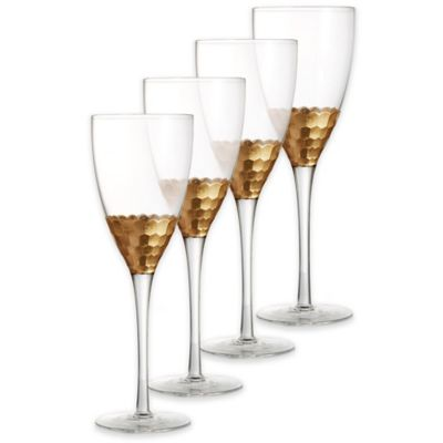 Fitz and Floyd® Daphne Red Wine Goblets in Gold (Set of 4)