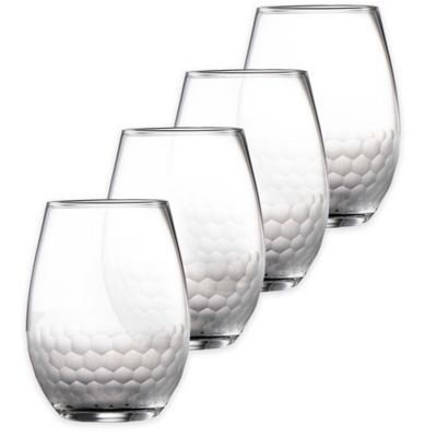 Fitz and Floyd® Daphne Stemless Wine Glasses (Set of 4)