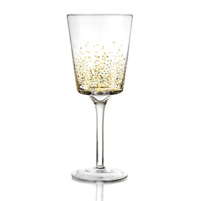 Fitz and Floyd® Luster White Wine Glass in Gold (Set of 4)