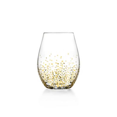Fitz and Floyd® Luster Stemless Wine Glasses in Gold (Set of 4)