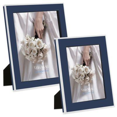 Vera Wang Wedgwood® Vera Hue 8-Inch x 10-Inch Frame in Indigo