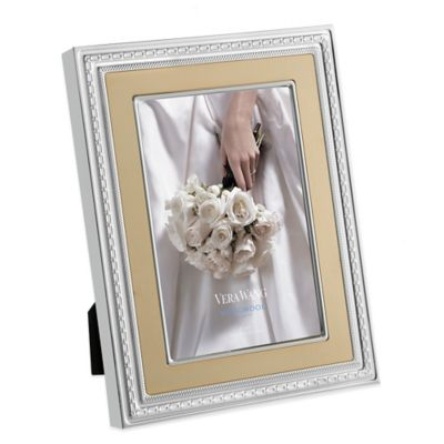 Vera Wang Wedgwood® With Love Gold 4-Inch x 6-Inch Picture Frame