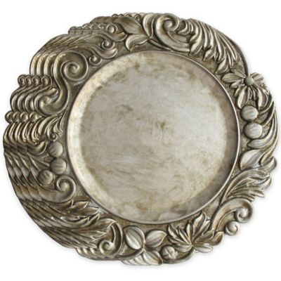 Jay Silver Charger Plates Formal Dinnerware