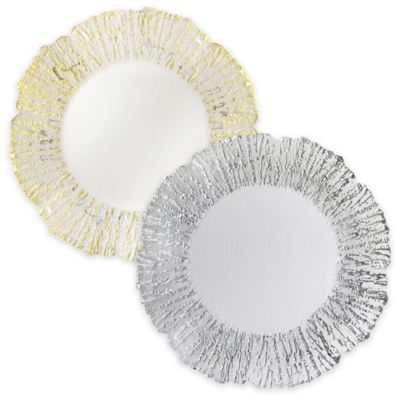 Charge it by Jay Deniz Charger Plates in Silver (Set of 4)