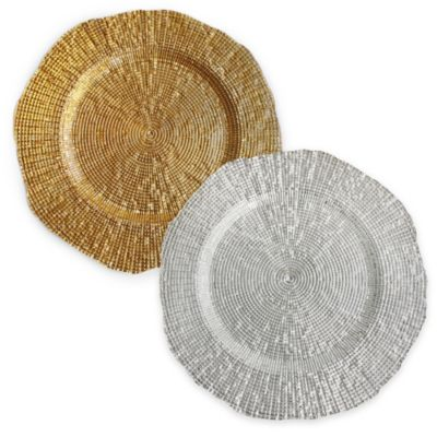 Charge it by Jay Infinity Charger Plates in Gold (Set of 4)