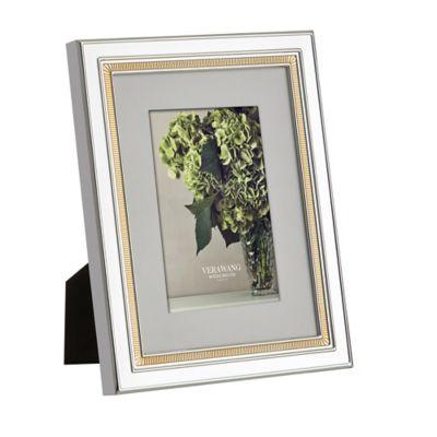 Vera Wang Wedgwood® Chime Gold 4-Inch x 6-Inch Frame