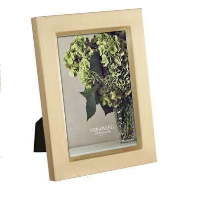 Vera Wang Wedgwood® 4-Inch x 6-Inch Satin Frame in Gold