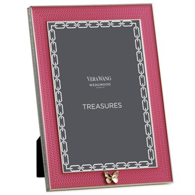Vera Wang Wedgwood® Treasures with Love 4-Inch x 6-Inch Butterfly Frame in Pink