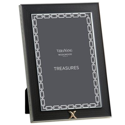 Vera Wang Wedgwood® Treasures with Love 4-Inch x 6-Inch X Frame in Noir