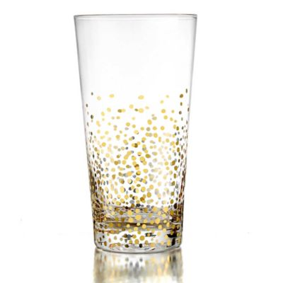 Fitz and Floyd® Luster Highball Glasses in Gold (Set of 4)